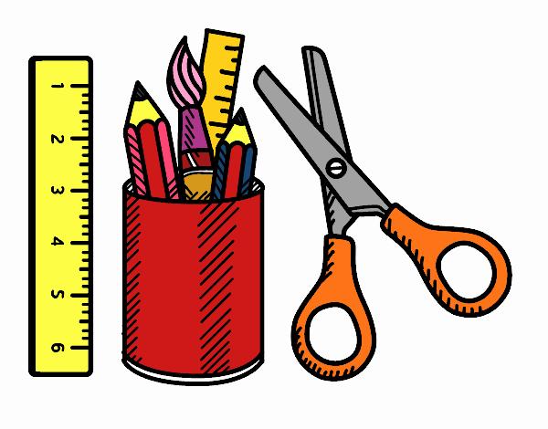 Dibujo de El material escolar pintado por en Dibujos.net el día 14-06-20 a  las 05:51:30. Imprime, pinta o colorea tus propios dibujos!