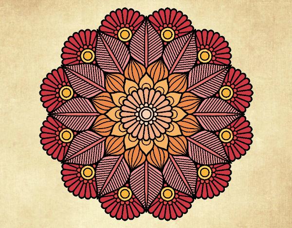 Dibujo de Mandala jardín vegetal pintado por en Dibujos ...