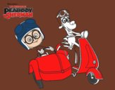 Mr Peabody y Sherman en moto