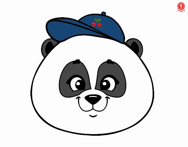 Dibujo De Cara De Oso Panda Con Gorro Pintado Por En Dibujos Net El Día 16 09 20 A Las 20 54 12 Imprime Pinta O Colorea Tus Propios Dibujos