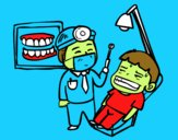 Dentista con paciente
