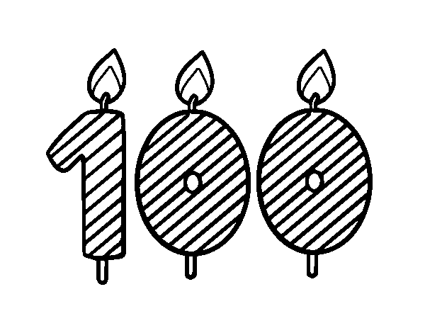 Dibujo De 100 Años Para Colorear Dibujosnet