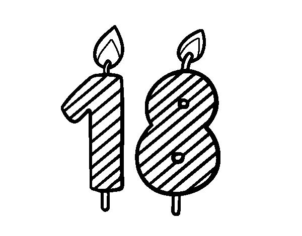 Dibujo De 18 Años Para Colorear Dibujosnet