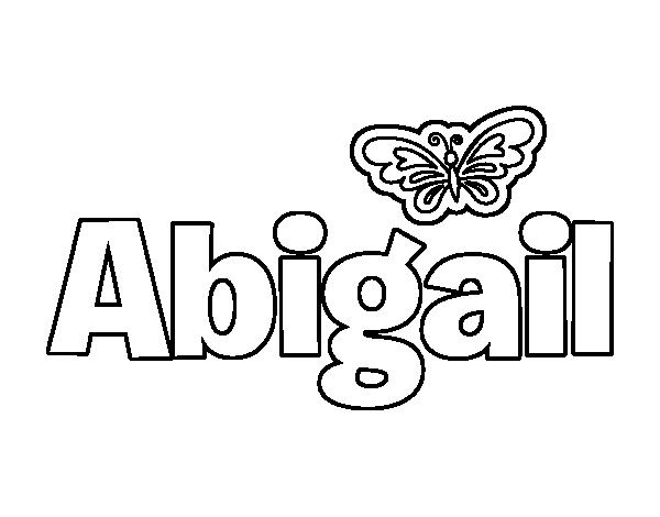 Dibujo de Abigail para Colorear - Dibujos.net