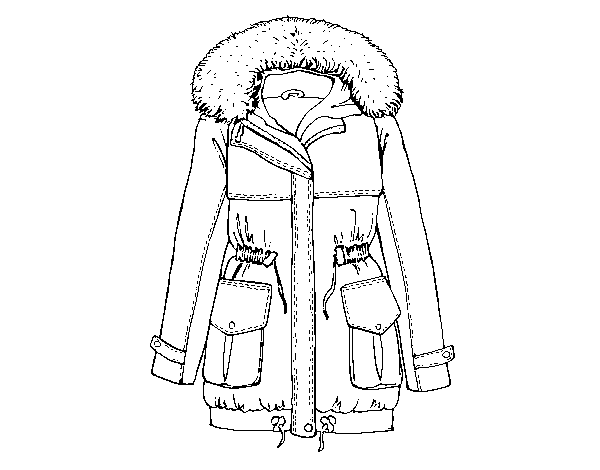 Dibujo De Abrigo De Invierno Para Colorear Dibujosnet