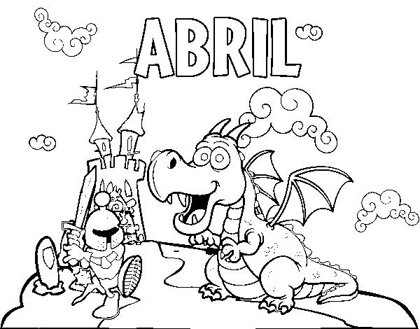 Dibujo De Abril Para Colorear Dibujosnet