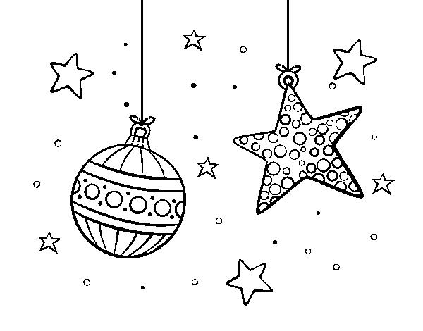 Dibujos Para Colorear Navidenos Imprimir: Dibujo De Adornos De Navidad Para Colorear