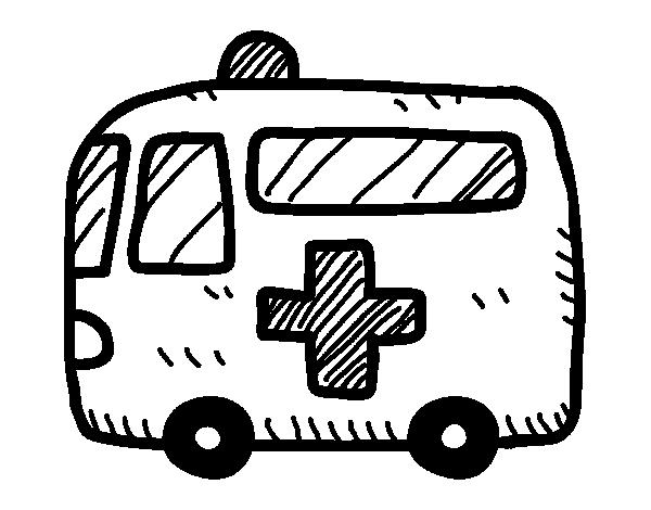 Dibujo De Ambulancia Cruz Roja Para Colorear Dibujos Net