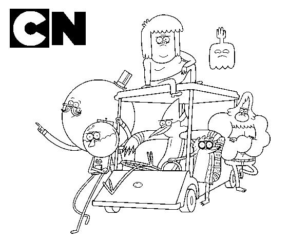 Dibujo De Amigos De Historias Corrientes Para Colorear