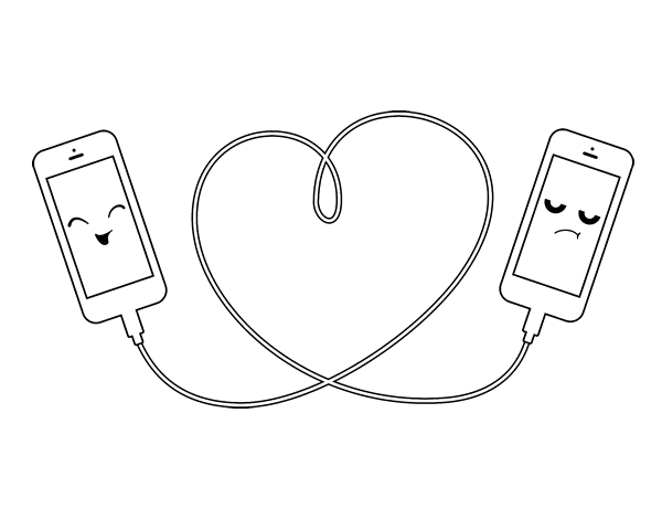 Dibujo de Amor móvil para Colorear - Dibujos.net
