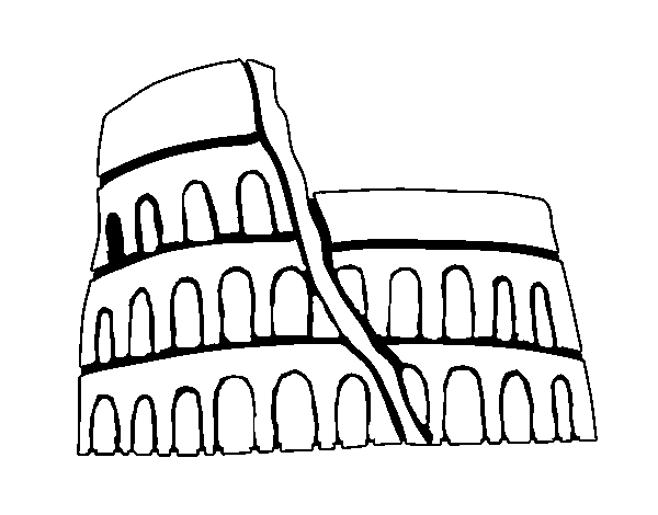 Dibujo De Anfiteatro Romano Para Colorear Dibujosnet