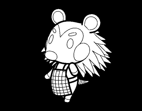 Dibujo de Animal Crossing: Pili para Colorear   Dibujos.net