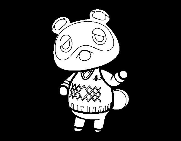 Dibujo De Animal Crossing Tom Nook Para Colorear Dibujosnet