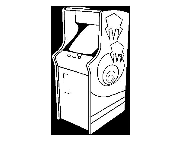 Dibujo de Arcade para Colorear - Dibujos.net
