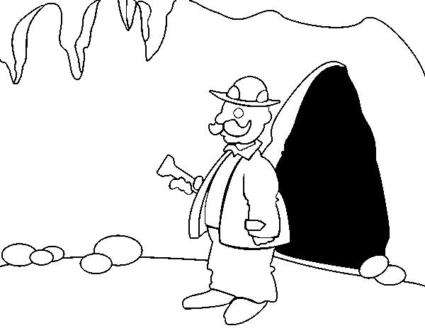 Dibujo de Arqueólogo para Colorear   Dibujos.net
