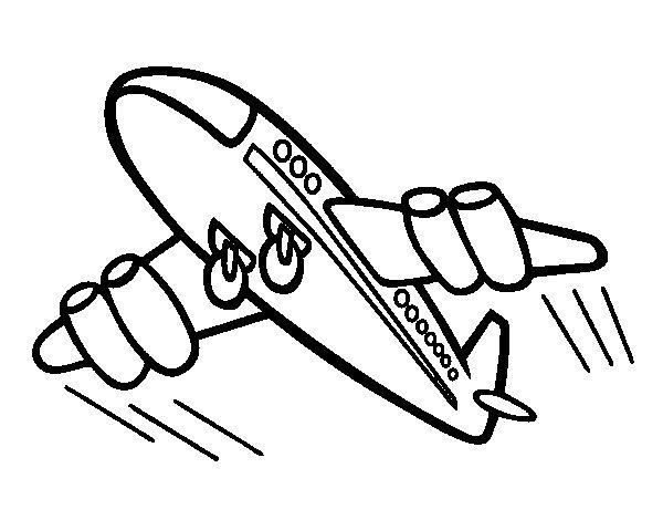 Aviones Para Colorear En Linea Dibujo De Aviones Para: Dibujo De Avión Rápido Para Colorear