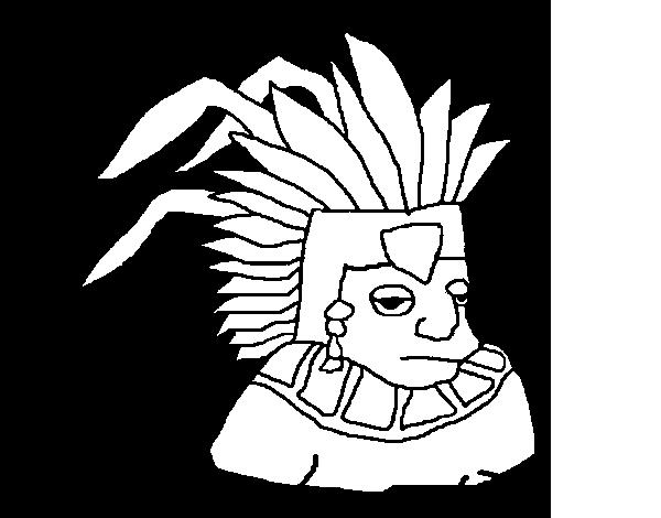 Dibujo de Azteca para Colorear - Dibujos.net
