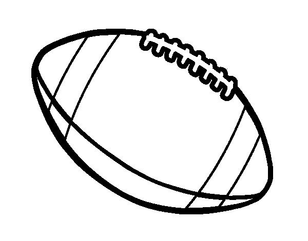 Dibujo De Balón De Fútbol Americano Para Colorear Dibujosnet