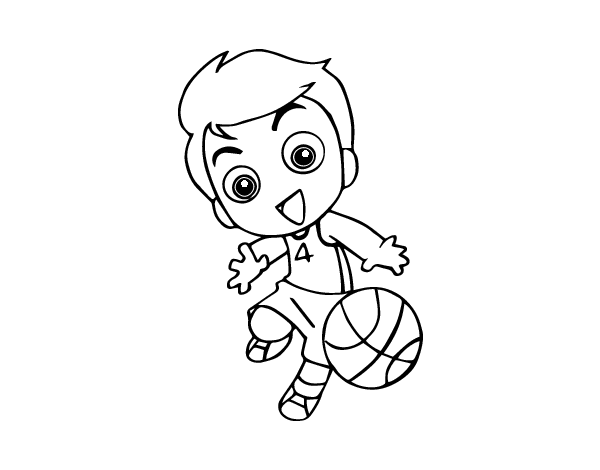 Dibujo de Baloncesto para Colorear - Dibujos.net