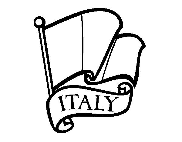 Dibujo De Bandera De Italia Para Colorear Dibujosnet