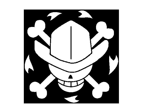 Dibujo de Bandera de Nico Robin para Colorear - Dibujos.net