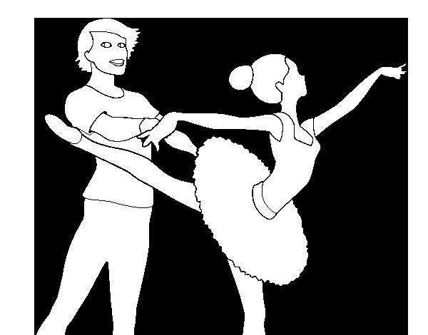 Dibujo de Barbie bailando ballet para Colorear - Dibujos.net