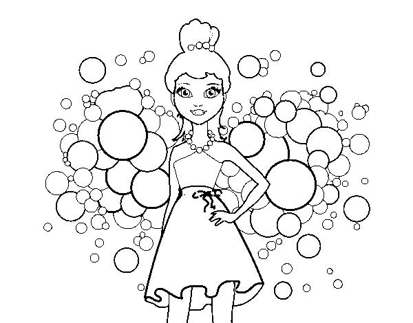 Dibujo de Barbie Princesa Rosa para Colorear - Dibujos.net
