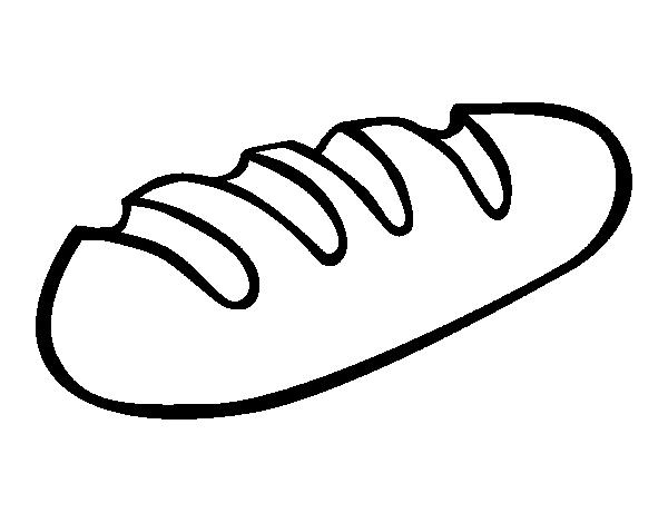Dibujo de Barra de pan para Colorear - Dibujos.net