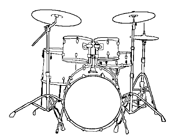 Dibujo de Batería de percusión para Colorear - Dibujos.net
