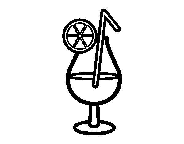Dibujo De Bebida Refrescante Para Colorear Dibujosnet