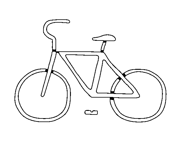 Dibujo de Bicicleta básica para Colorear - Dibujos.net