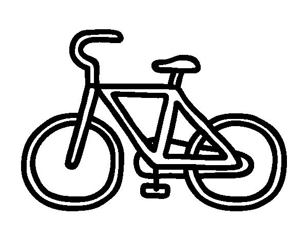 Dibujo De Bicicleta Básica Para Colorear Dibujosnet
