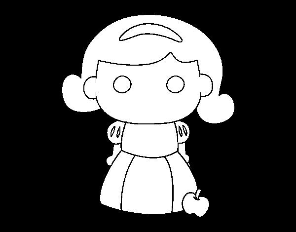 Dibujo De Blancanieves Para Colorear Dibujosnet