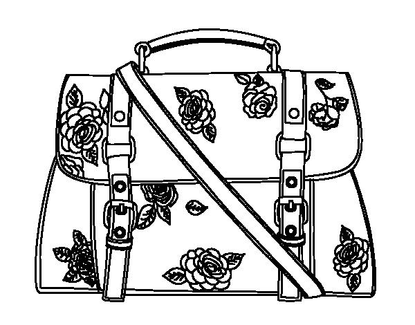 Dibujo de Bolso floreado para Colorear   Dibujos.net