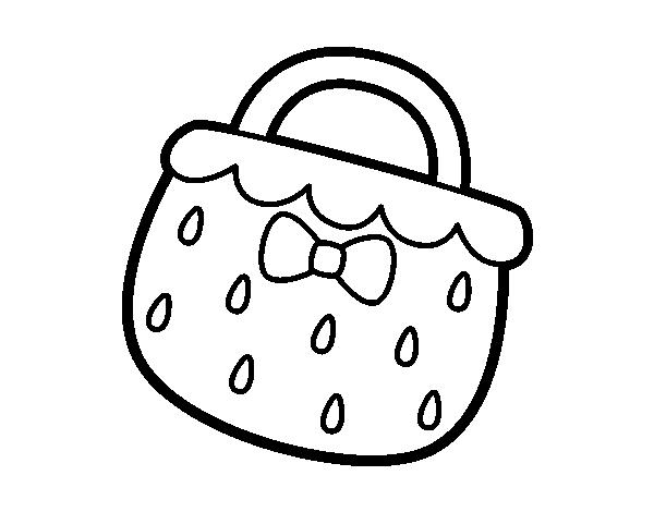 Dibujo de Bolso fresa para Colorear   Dibujos.net