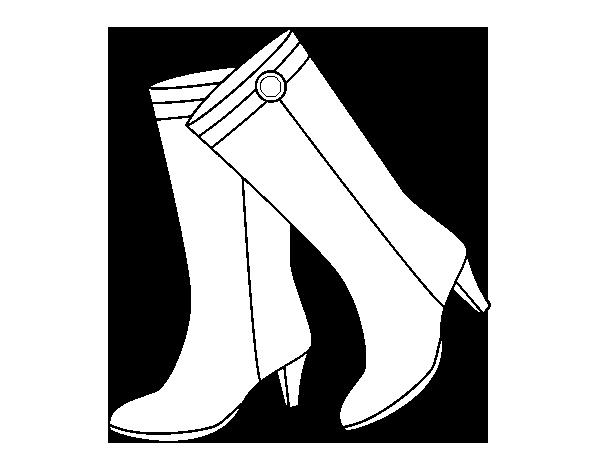 Dibujo de Botas altas para Colorear