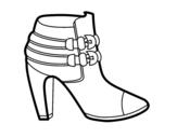 Dibujo De Sandalias Para Colorear Dibujosnet