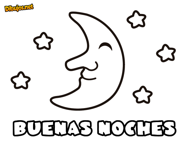 Dibujo de Buenas noches para Colorear - Dibujos.net