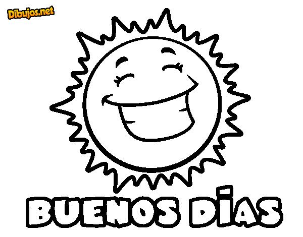 Dibujo de Buenos días para Colorear - Dibujos.net