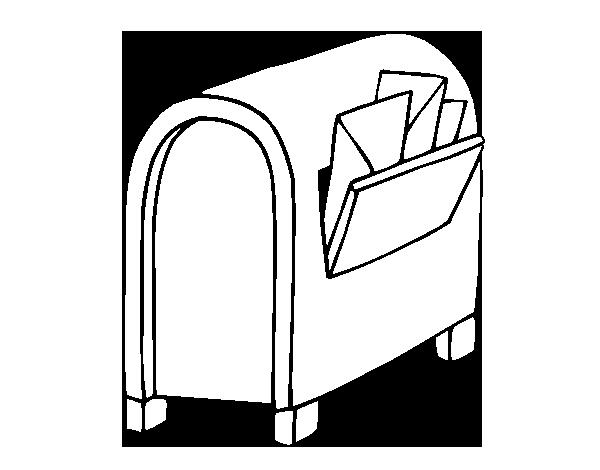 Dibujo de Buzón con cartas para Colorear - Dibujos.net