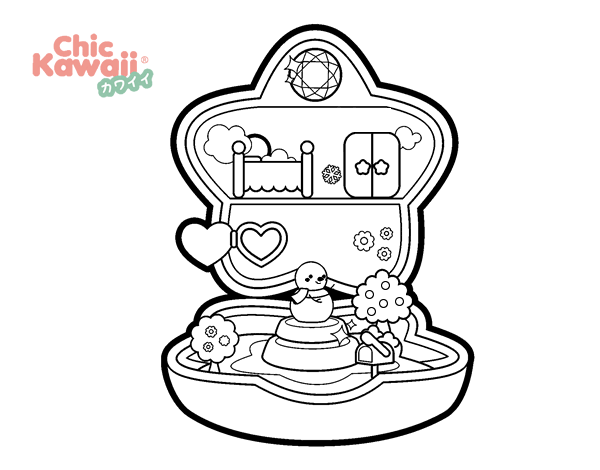 Dibujo De Caja De Música Kawaii Para Colorear Dibujosnet