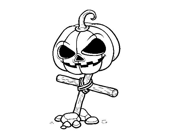 Dibujos Para Colorear De Calabazas De Halloween Para Imprimir: Dibujo De Calabaza De Halloween En Cruz Para Colorear