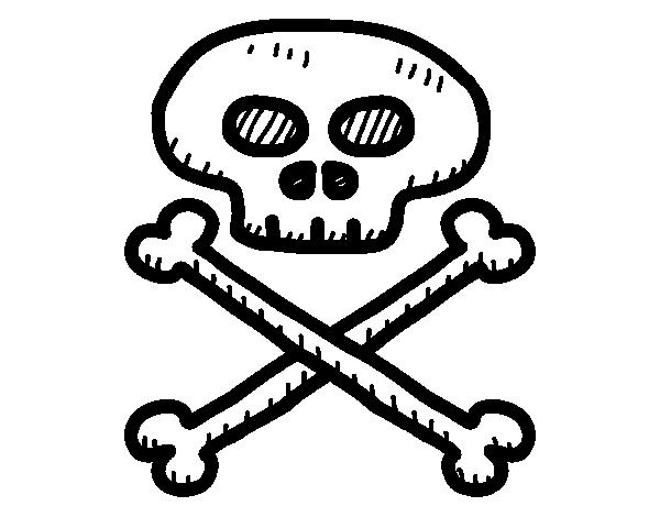 Dibujo De Calavera Pirata Para Colorear Dibujosnet