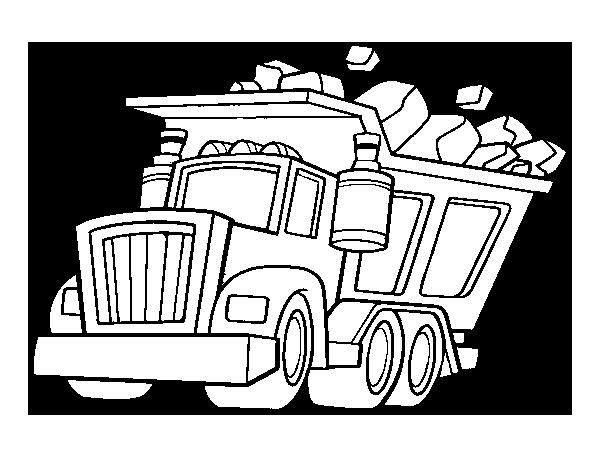Dibujo de Camión cargado para Colorear - Dibujos.net