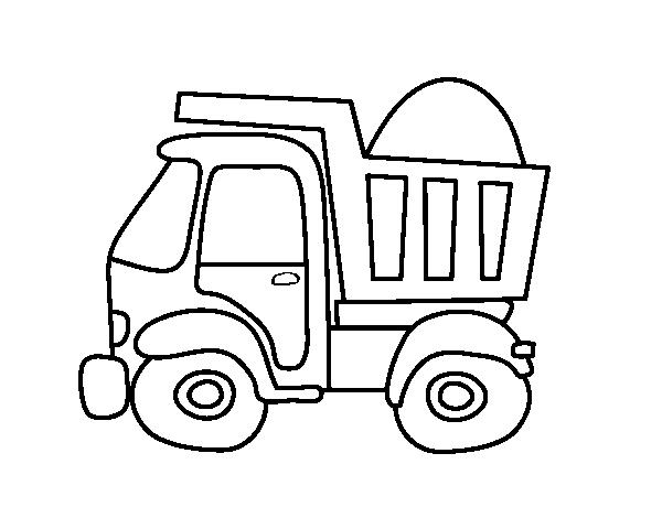Dibujo De Camión De Transporte Para Colorear Dibujosnet