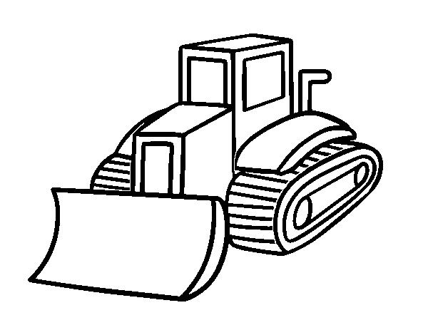 Dibujo de Camión pala para Colorear - Dibujos.net