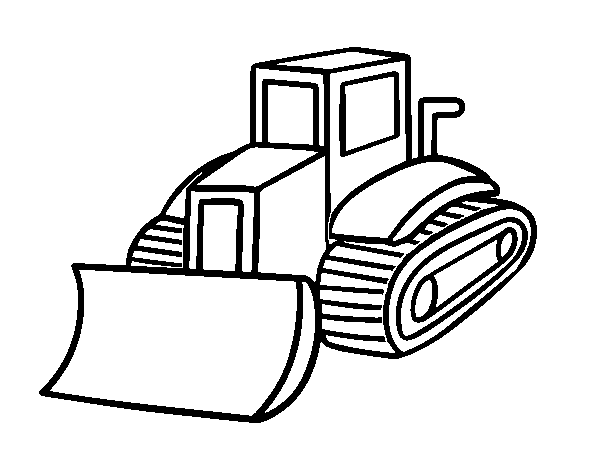 Dibujo De Camión Pala Para Colorear Dibujosnet