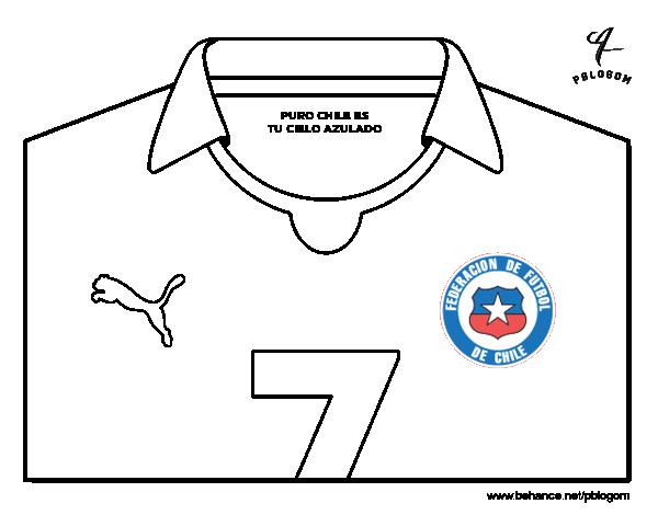Dibujo de Camiseta del mundial de fútbol 2014 de Chile para Colorear -  Dibujos.net 18d618a327298