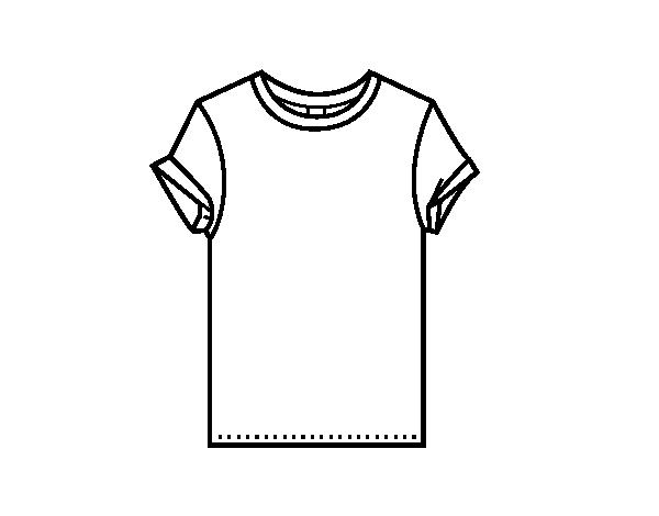 Dibujo de Camiseta moderna para Colorear - Dibujos.net