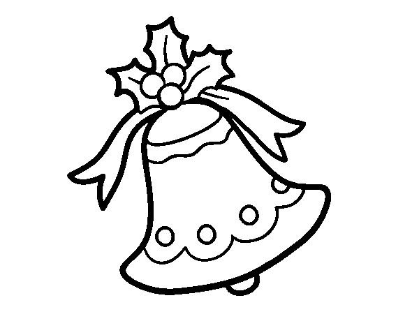 Dibujo de Campana navideña para Colorear   Dibujos.net